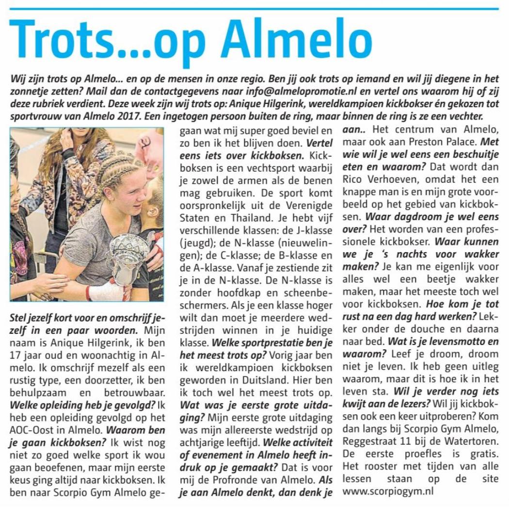 Anique in Almelo's Weekblad.jpg
