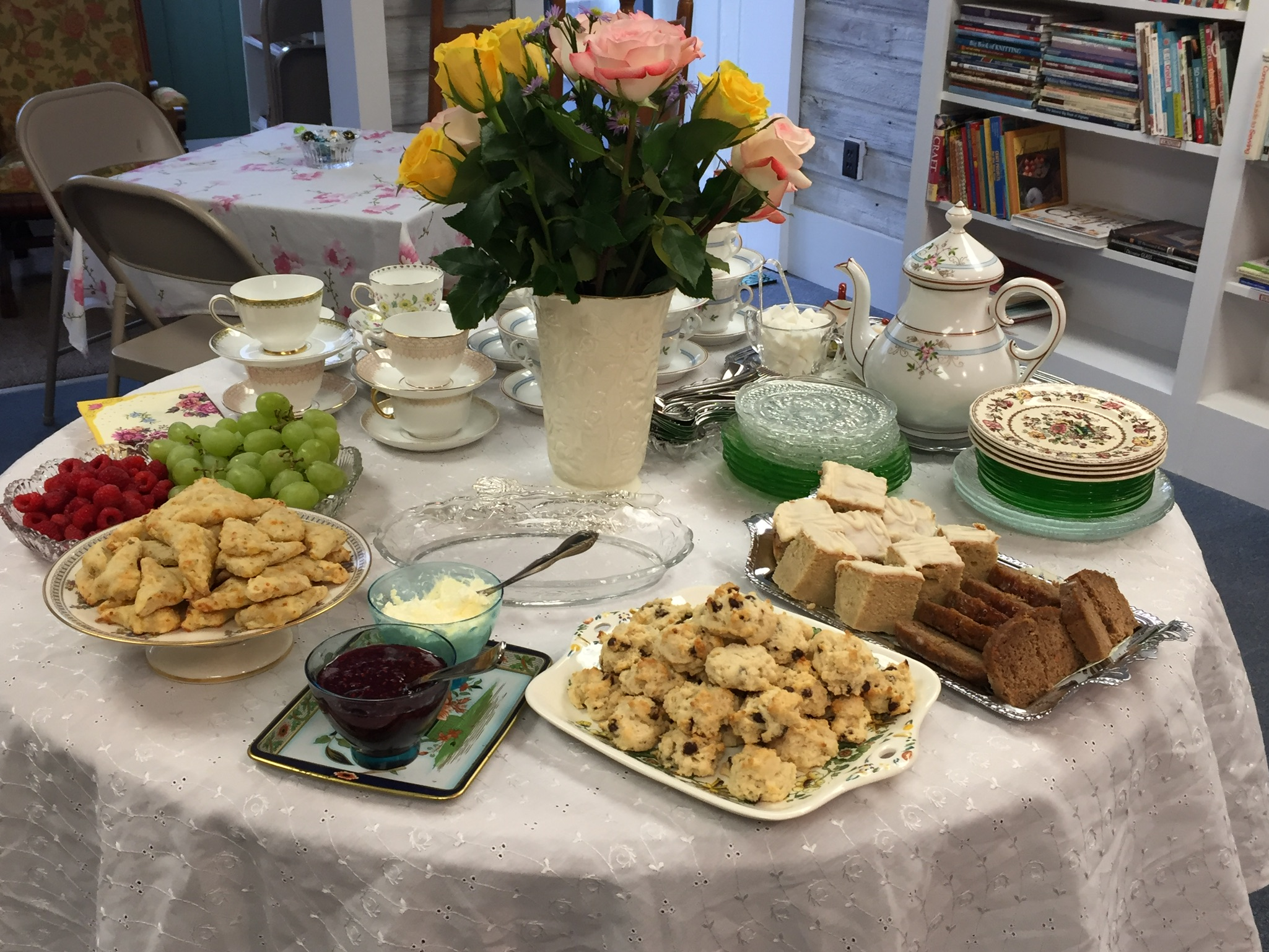 Tea and scones at our Victorian Tea Party.