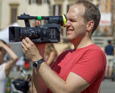 Edward Schmidt shooting Second Unit footage