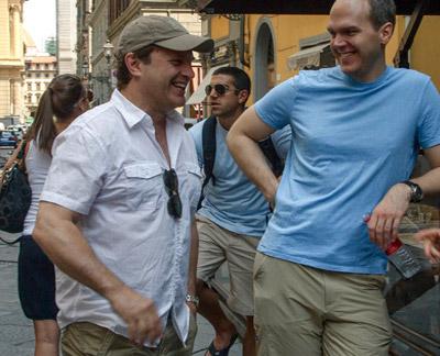 Michael Mailer (left), with Edward Schmidt