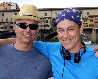 Evan Oppenheimer (right), with Cinematographer Gherardo Gossi