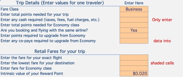 Value Calculator — Reward Flying