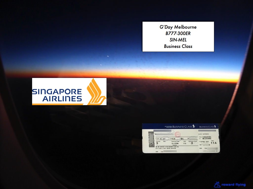 Singapore Airlines B777-300 Business Class SIN-MEL — Reward ...