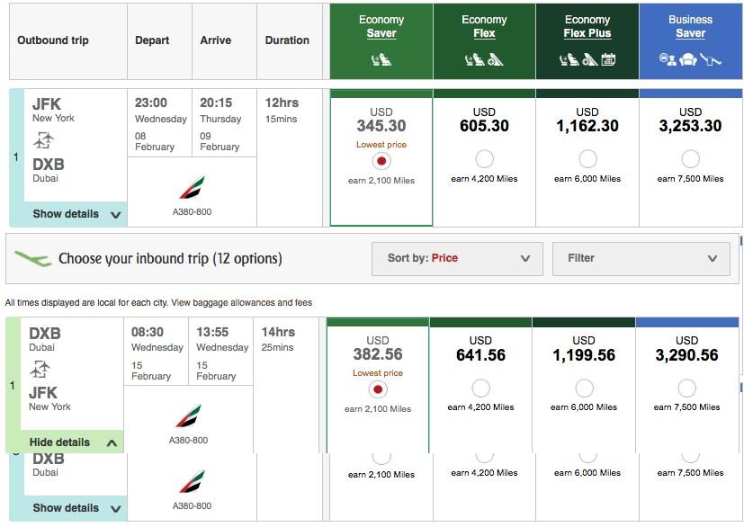 Emirates Skywards — Reward Flying