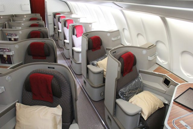 A330 24 business class seat configuration