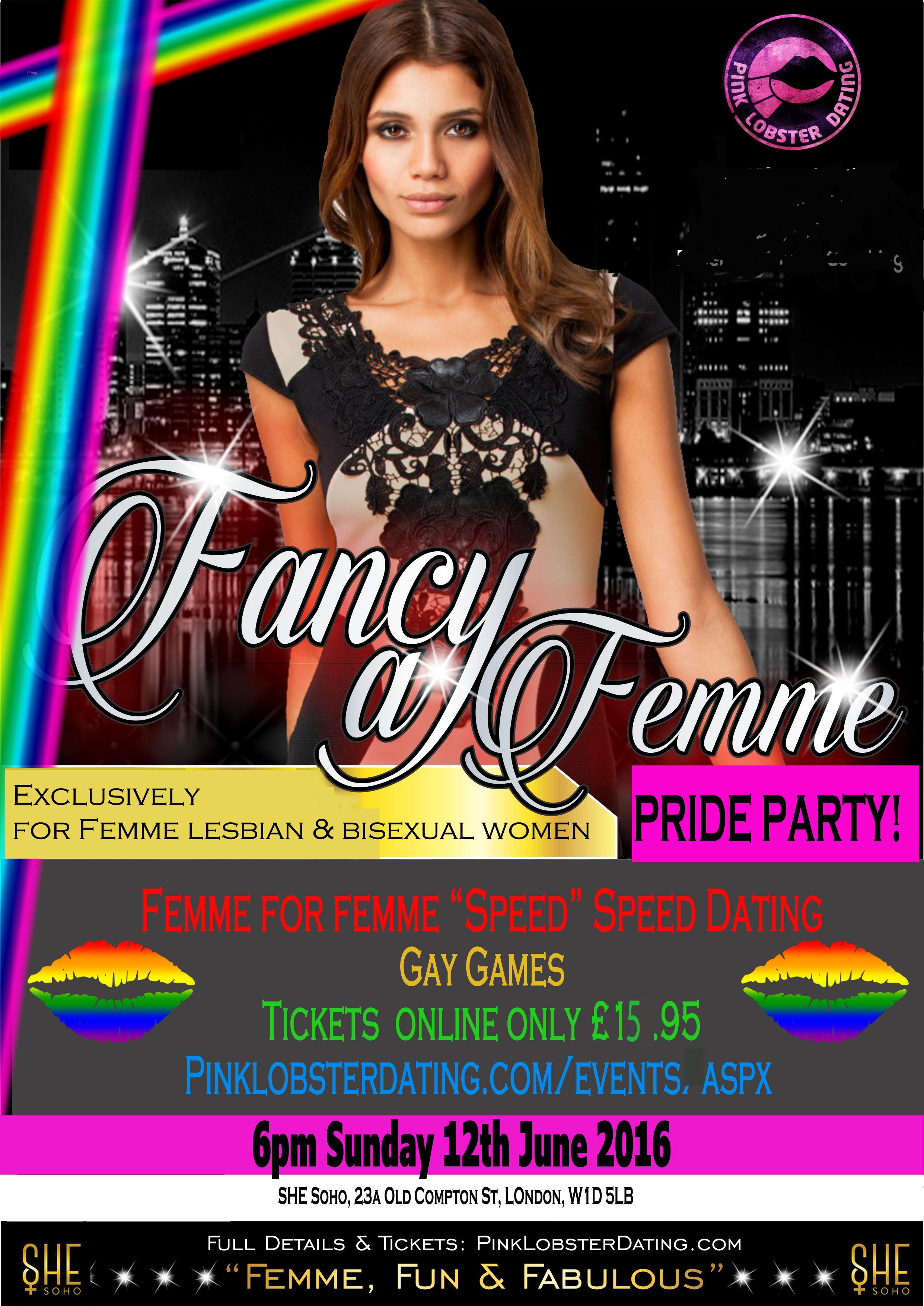 Femme Lesbian & Bi Pride Party June 12th 2016