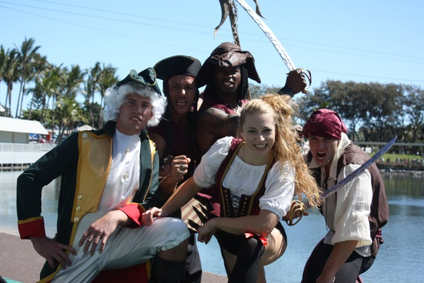 Cast of Pirates Unleashed - Sea World, Australia,  2009 arr!