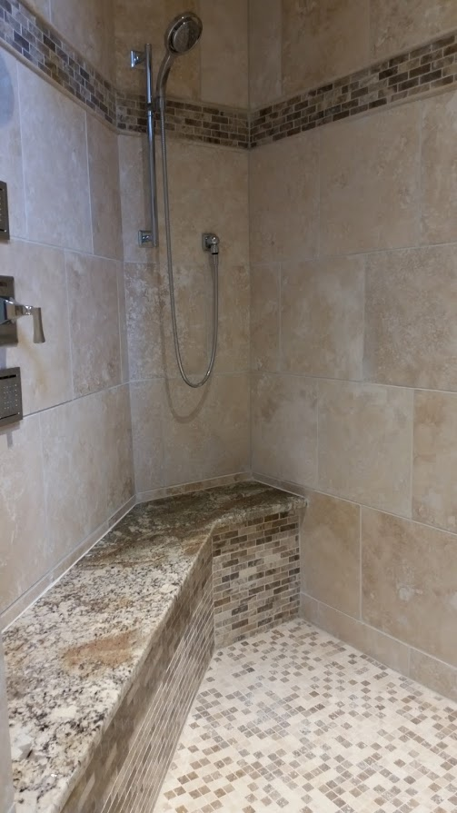 Bathroom Remodeling remodeling project built by Kure Construction in Naperville, IL.
