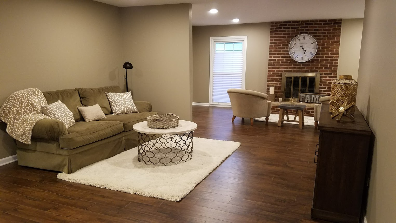 Living Room remodeling project built by Kure Construction in Naperville, IL.