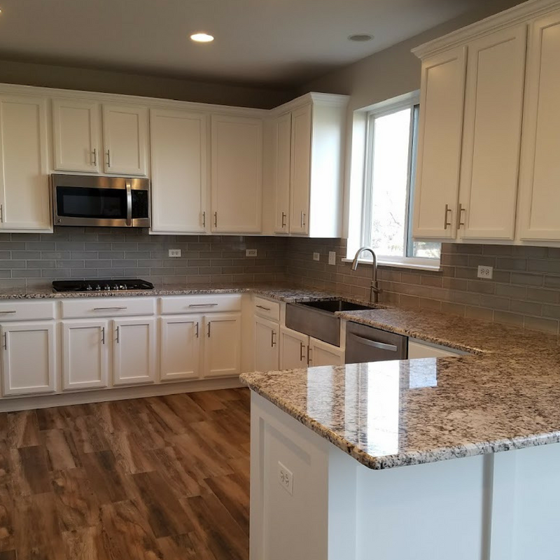 Flipped Kitchen done by Kure Construction a Naperville based Home Construction company.