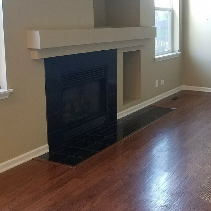 Flipped Family Room done by Kure Construction a Naperville based Home Construction company.