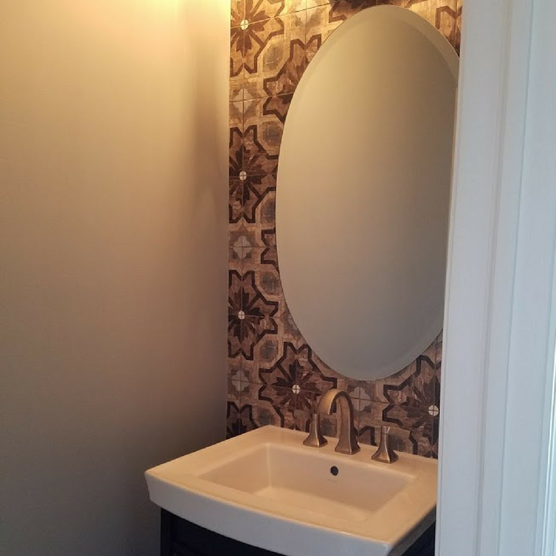 Flipped Bathroom done by Kure Construction a Naperville based Home Construction company.