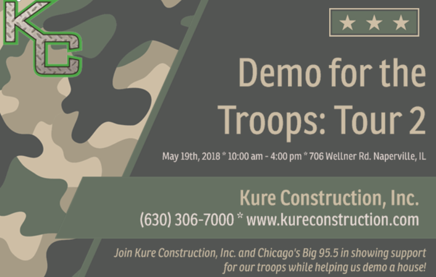 Demo For The Troops | Kure Construction