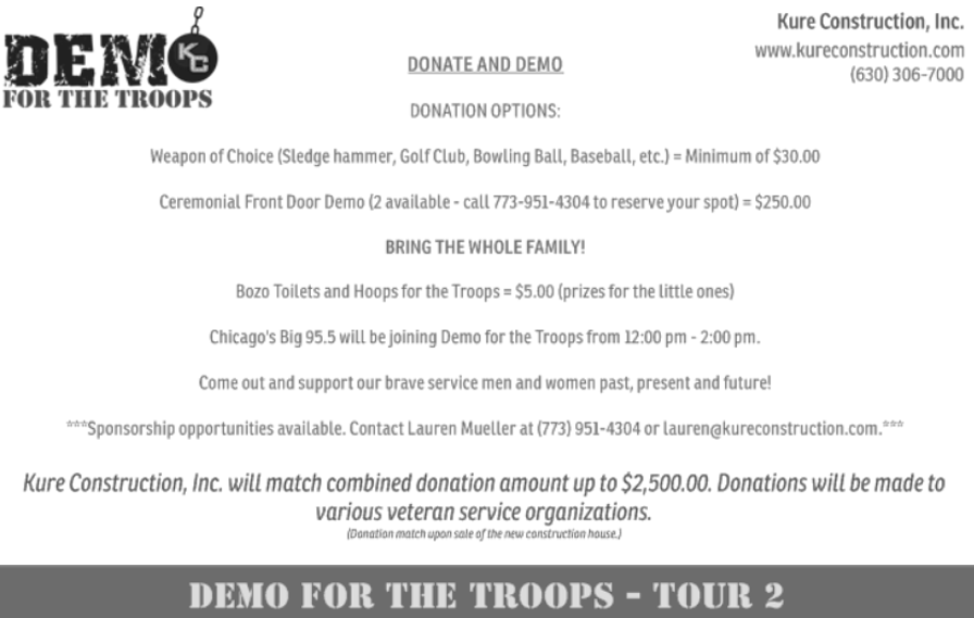 Kure Construction | Demo For The Troops