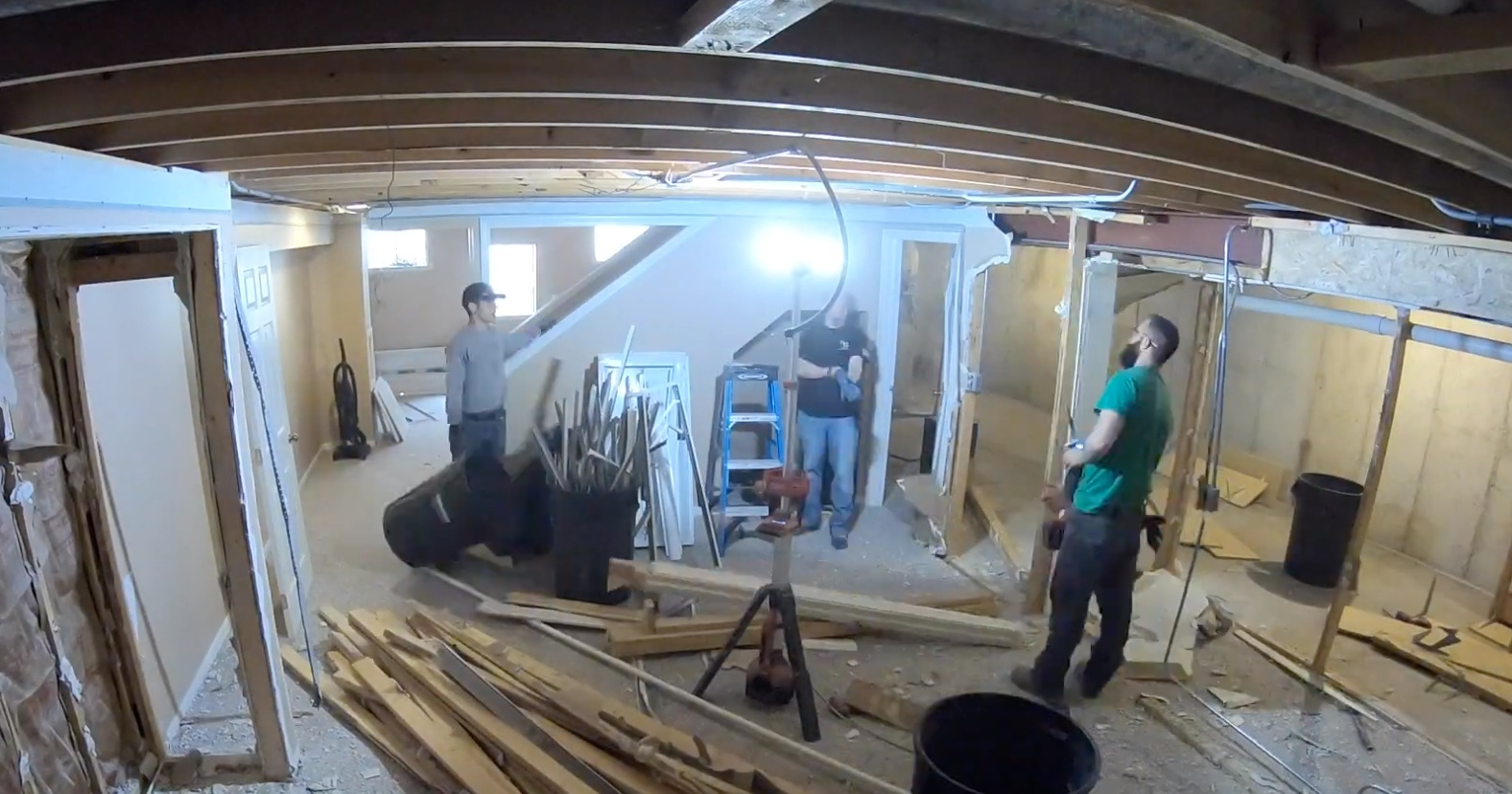 Naperville Basement Remodeling - May 2019 - Kure Construction Inc. is shown demoing a Naperville Basement. If you have a project, contact our team today to learn the next steps!