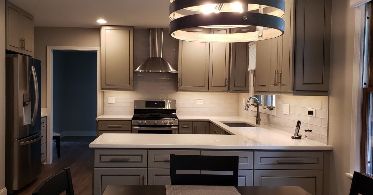 Naperville Home Remodeling - June 2019 - Kure Construction Inc. remodeled a first floor for a Naperville homeowner that included updated: Kitchen, Dinning Room, Family Room and more! Click on the button below to view the Before / After photos!