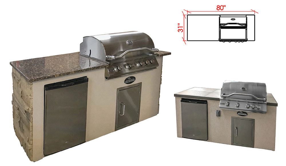 The DS1 - The compact footprint of the DS1 outdoor kitchen fits easily on smaller decks and patios. Anchor a outdoor room with this model and have plenty of room for tables, chairs, and entertaining.