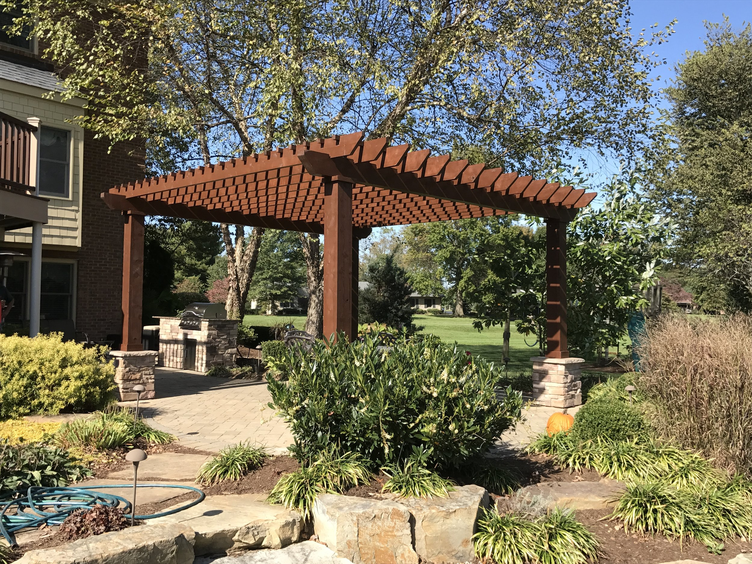 Rustic Pergola with Infield Kitchen angle 1.JPG