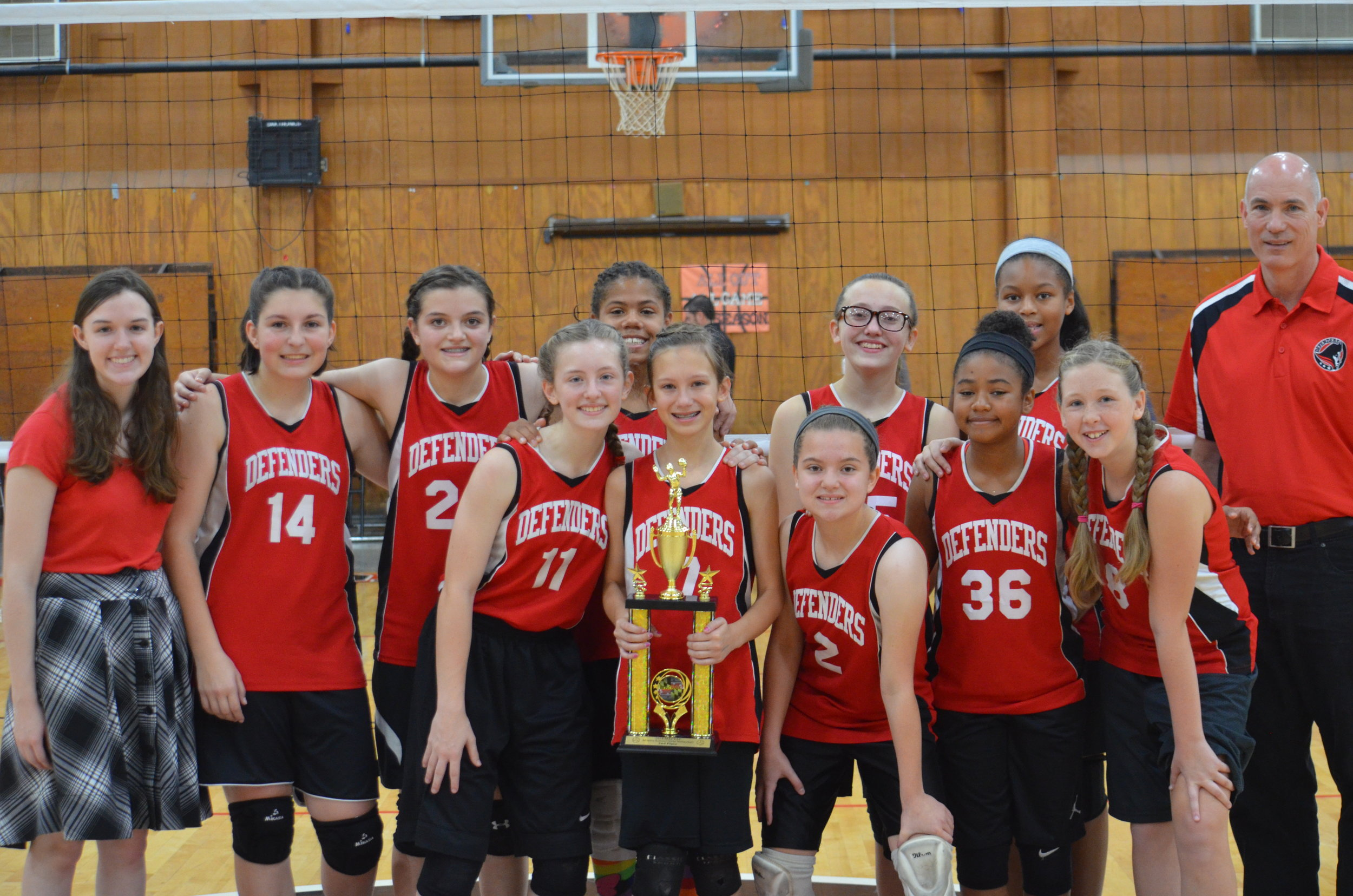 Frederick christian academy Middle school girls volleyball 2018 - 2nd place