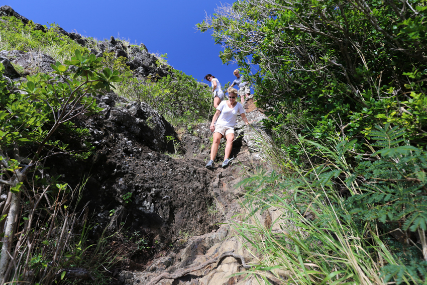volcanic hike on Le Morne Mountain Mauritius