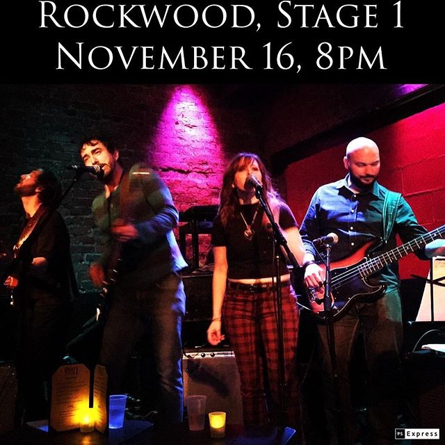 Getting the old band back together for a one-night show @rockwoodmusichall ! Sat, Nov 16 at 8pm, Stage 1!
