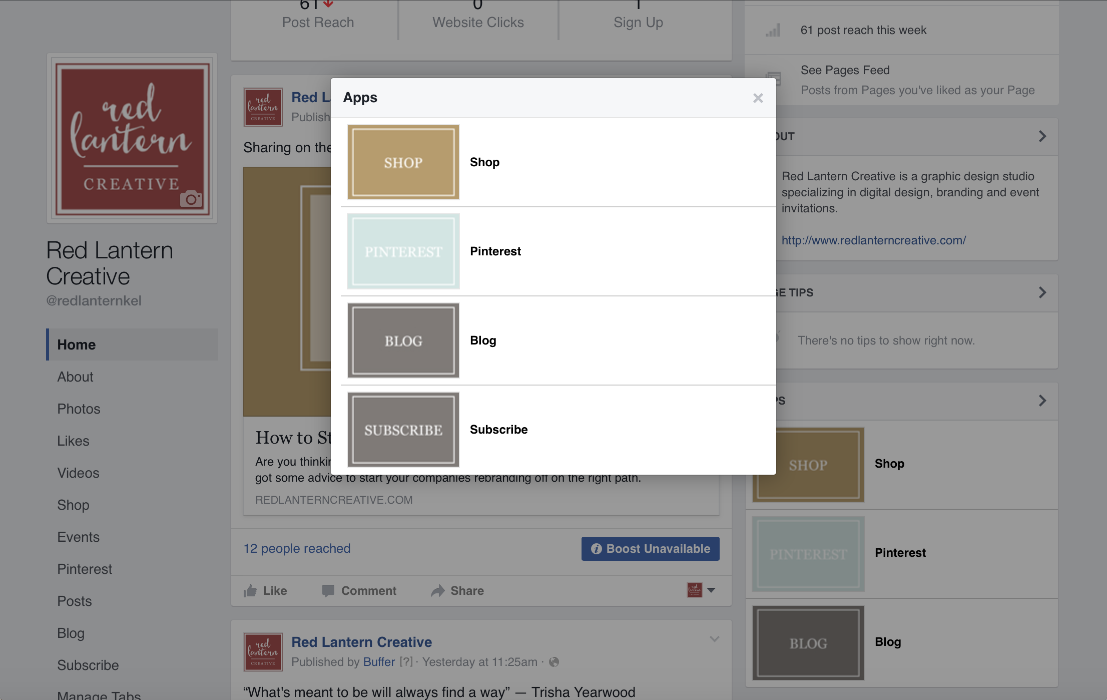 How to Add Tabs to Your Facebook Business Page — Red Lantern Creative