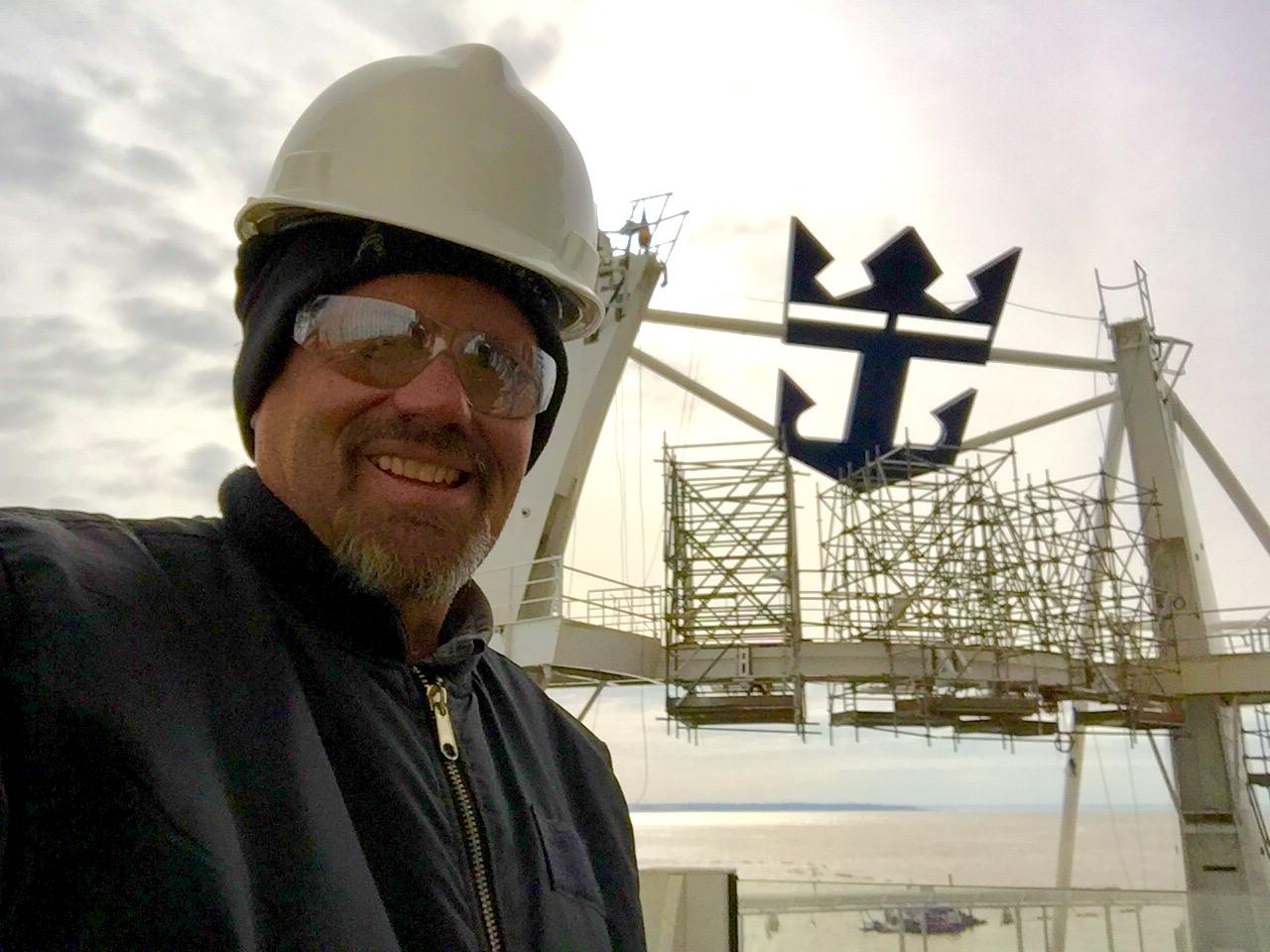 Roger at STX Shipyard, St. Nazaire, France