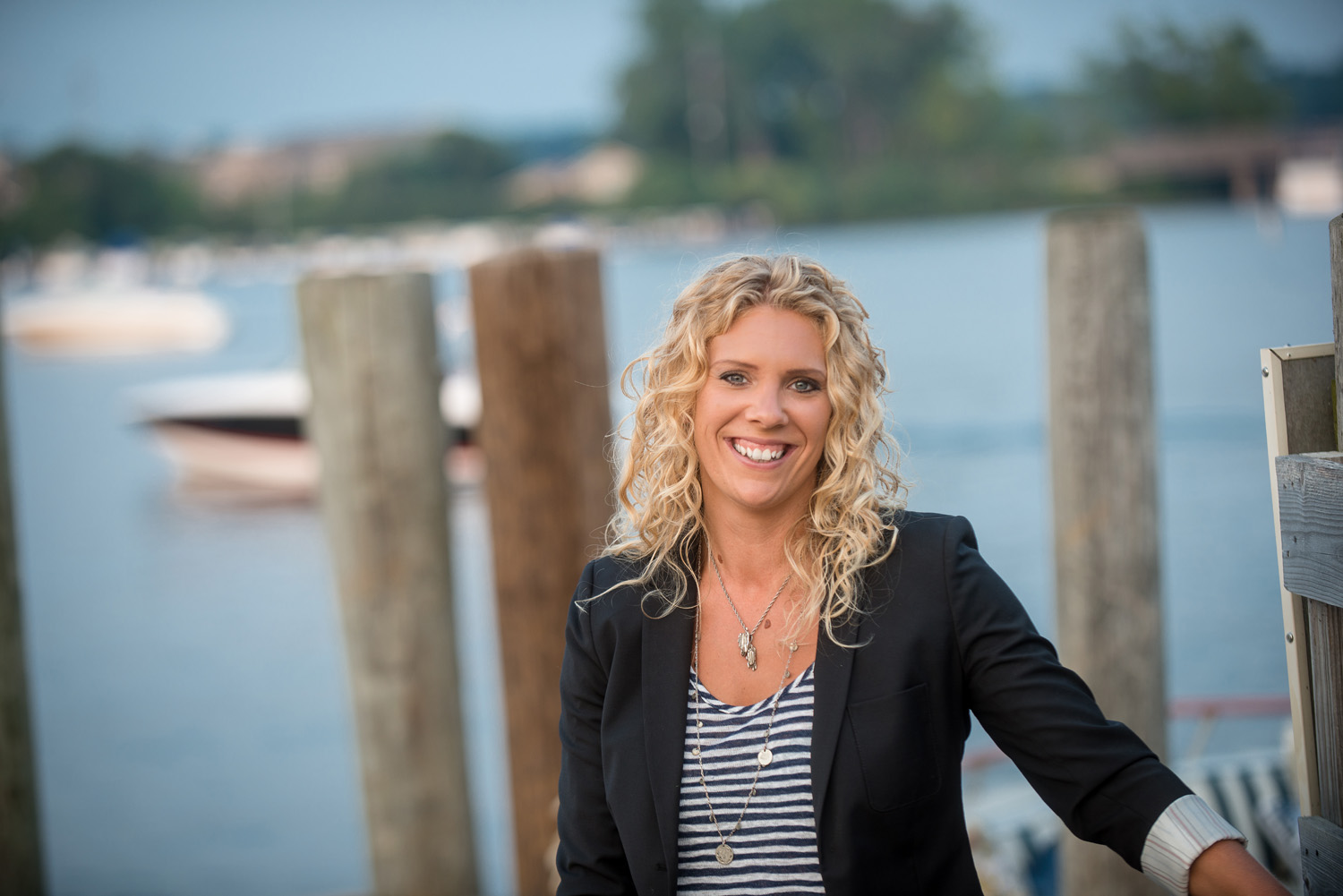 Shoreline Insurance Group owner Allison Kraus pictured in Excelsior Bay.