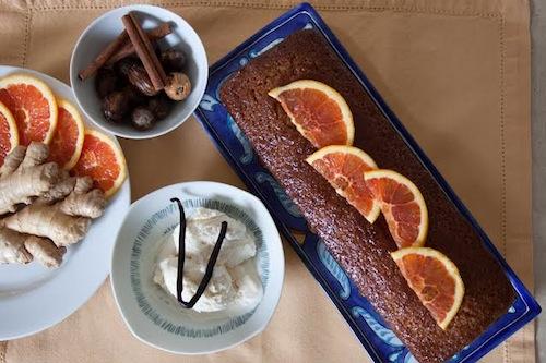 Image: Citrus spiced banana bread with vanilla ice cream. Prepared by the author. Photo by Donatella Codonesu.