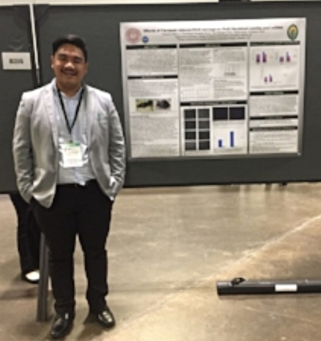 2016 REU student Eduardo Biala, Jr presented his summer research project at the Annual Biomedical Research Conference for Minority Students 2016 in Tampa Bay, Florida November 9-12th, 2016. Congrats, Ed and great job this summer!
