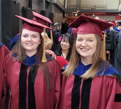 DR. MACDONALD AND DR. BOTHUN AT THEIR HOODING and Graduation CEREMONY.