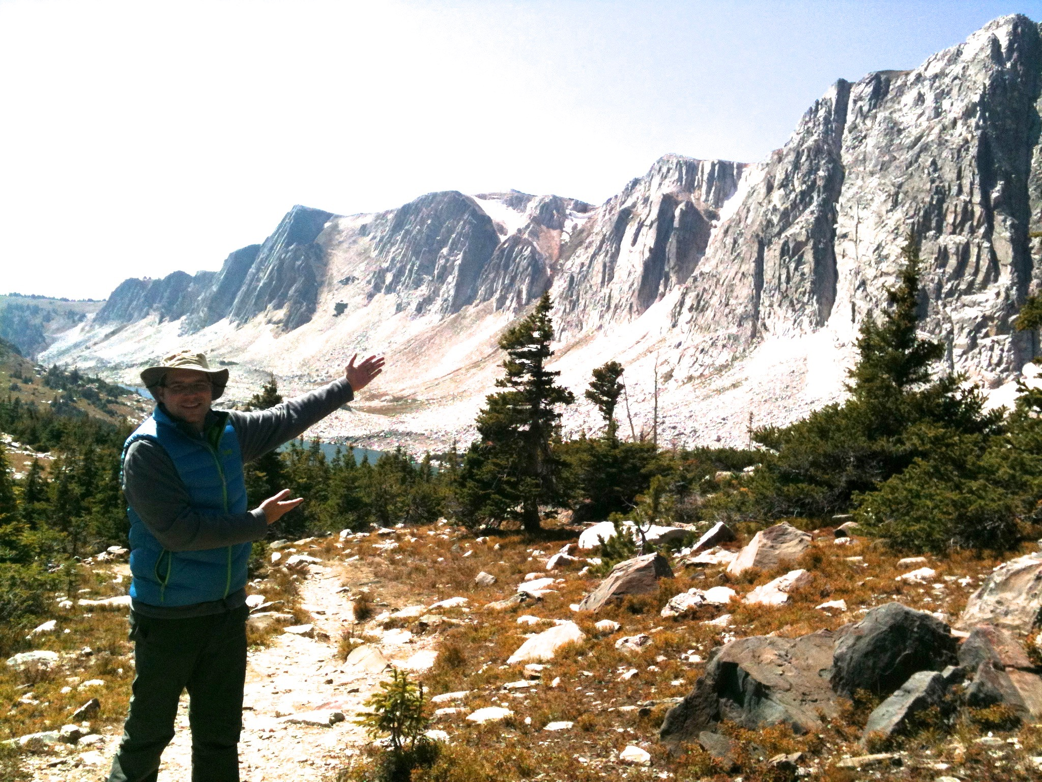 Micah revelling in the beauty of the Snowy Mountain Range in Wyoming.