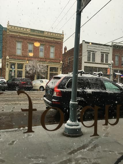 Laramie, Wyoming on a slushy, messy day in May. Yes, that's snow on May 7th folks.