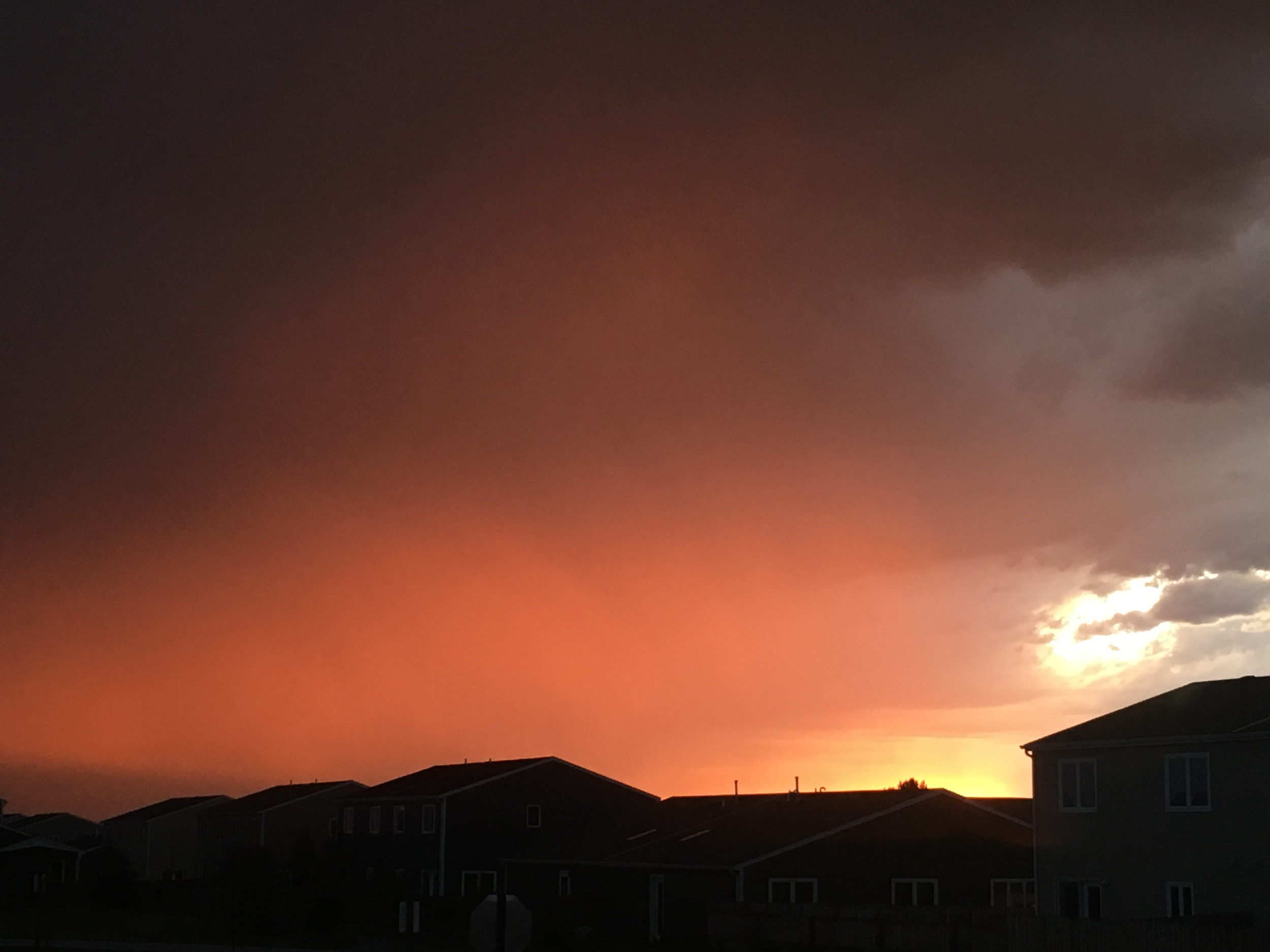 A stormy sunset in Wyoming.