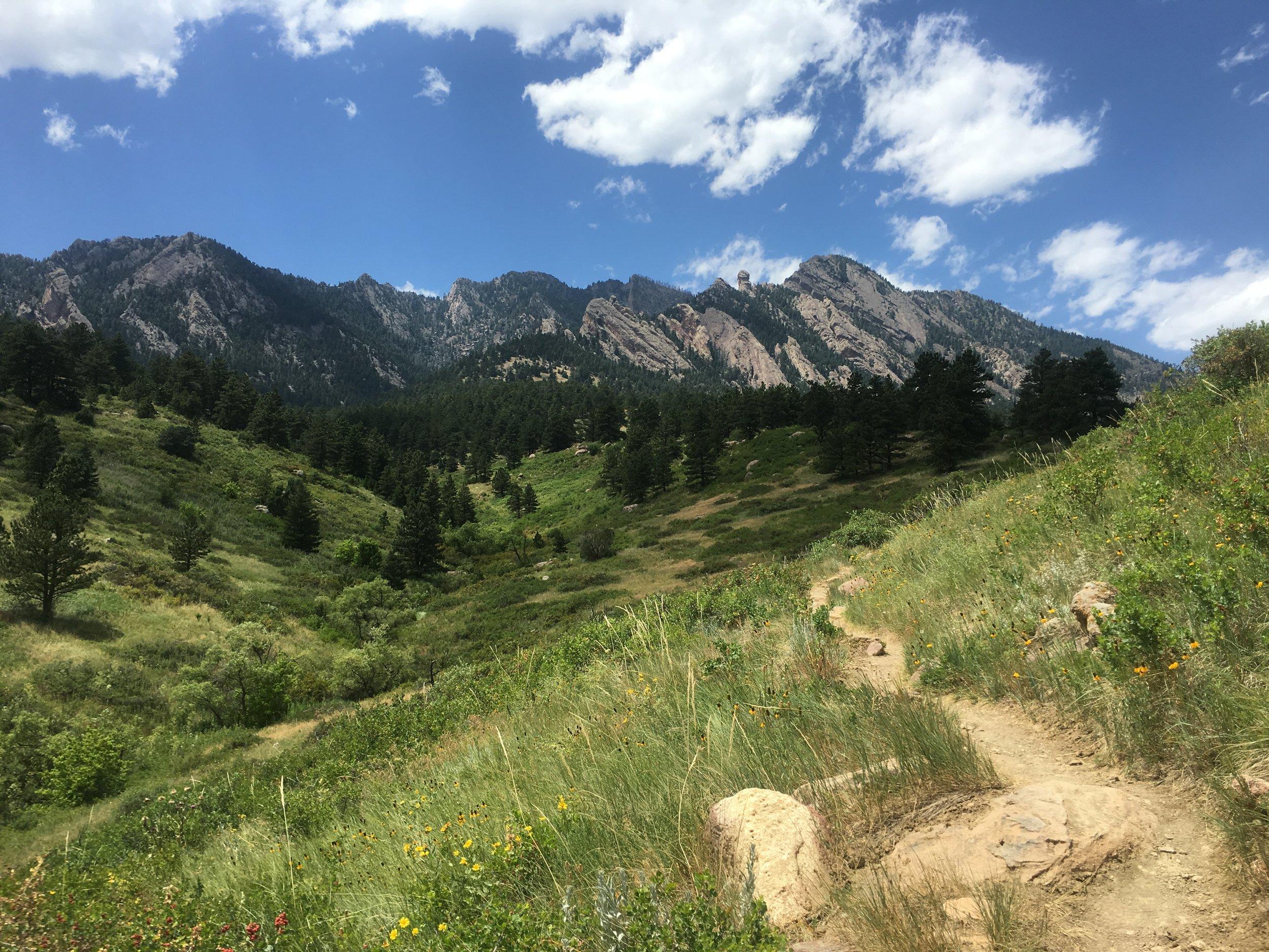 A trail near Boulder,Colorado