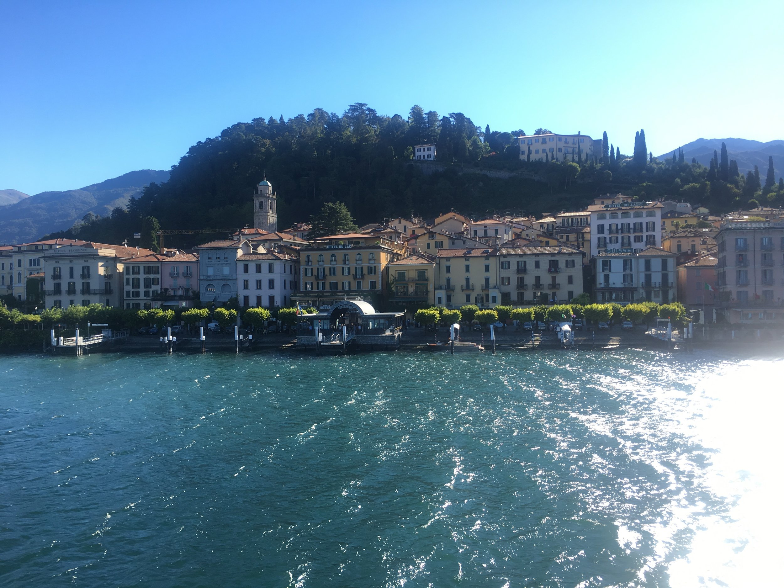 A view of Bellagio from the ferry.