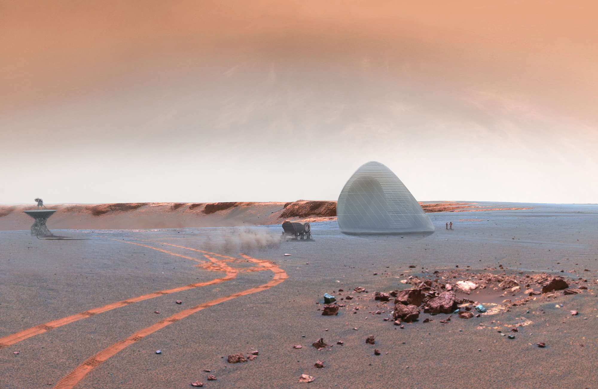 Mars Ice House Wide-angle view