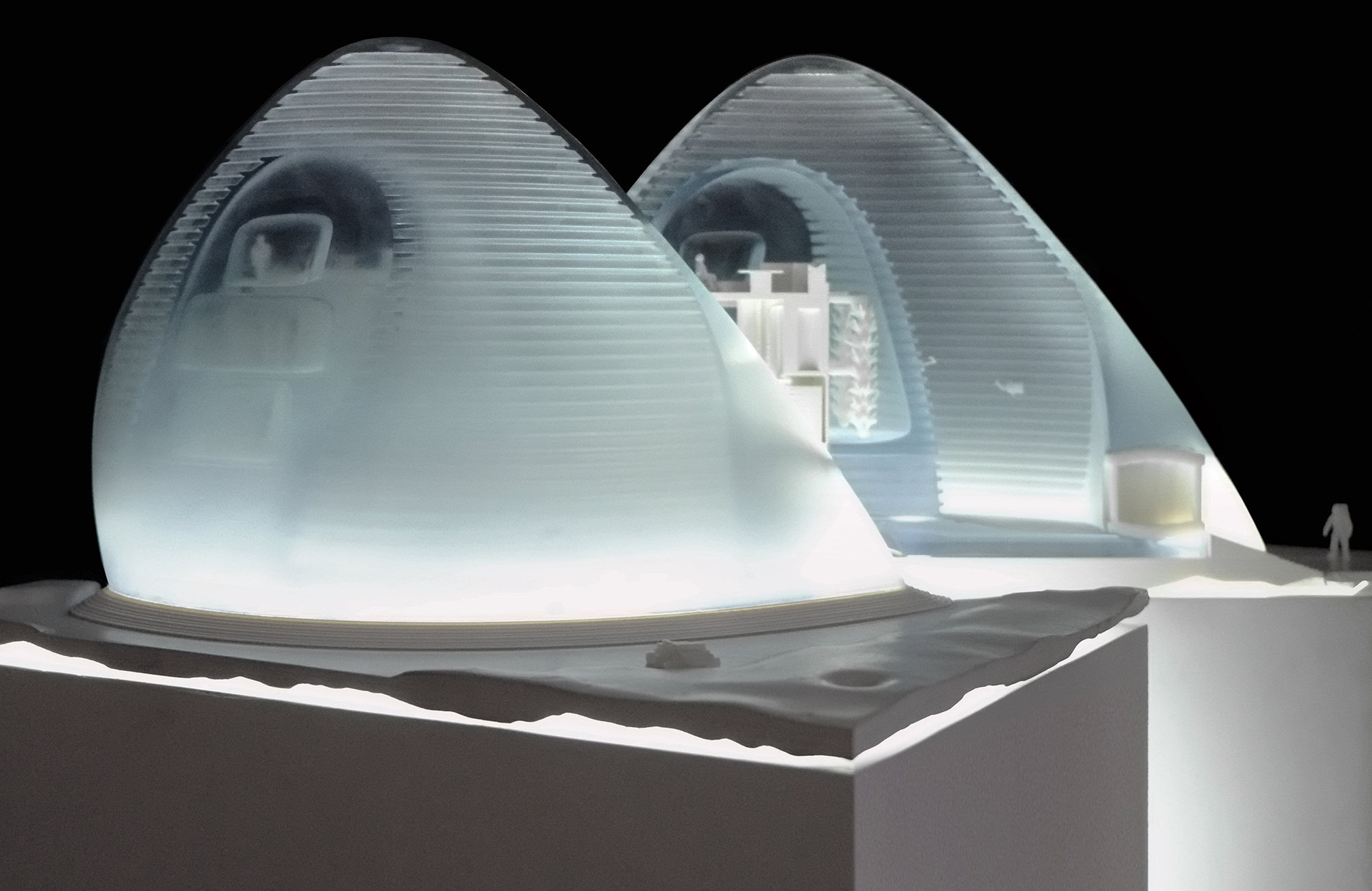 3D-Printed Model of Mars Ice House
