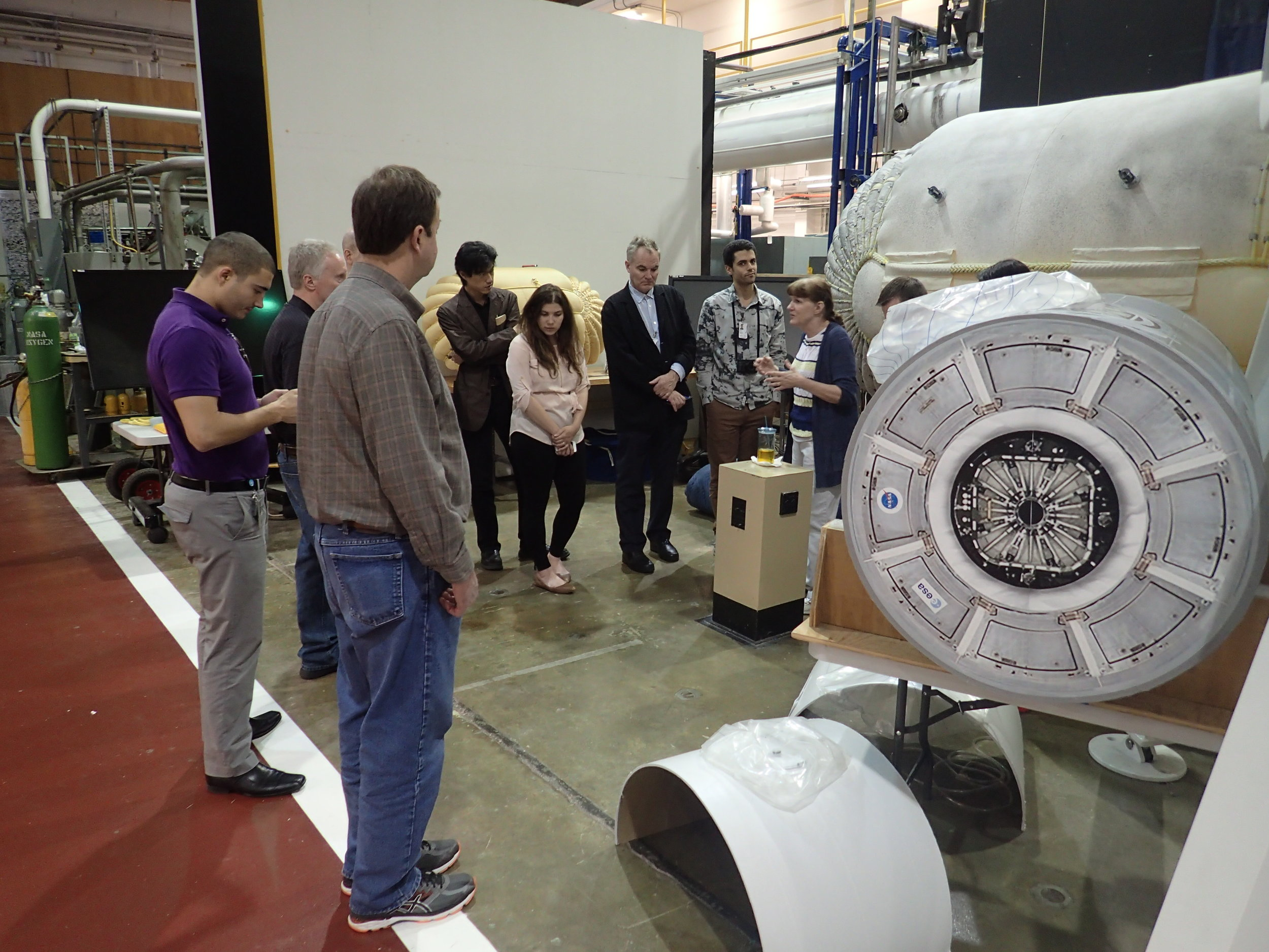SEArch+ team at NASA Langley Research Center collaborating on Mars Ice Home, a new concept for living in space and a house on mars. Ice Home is a house in space and a home on Mars.