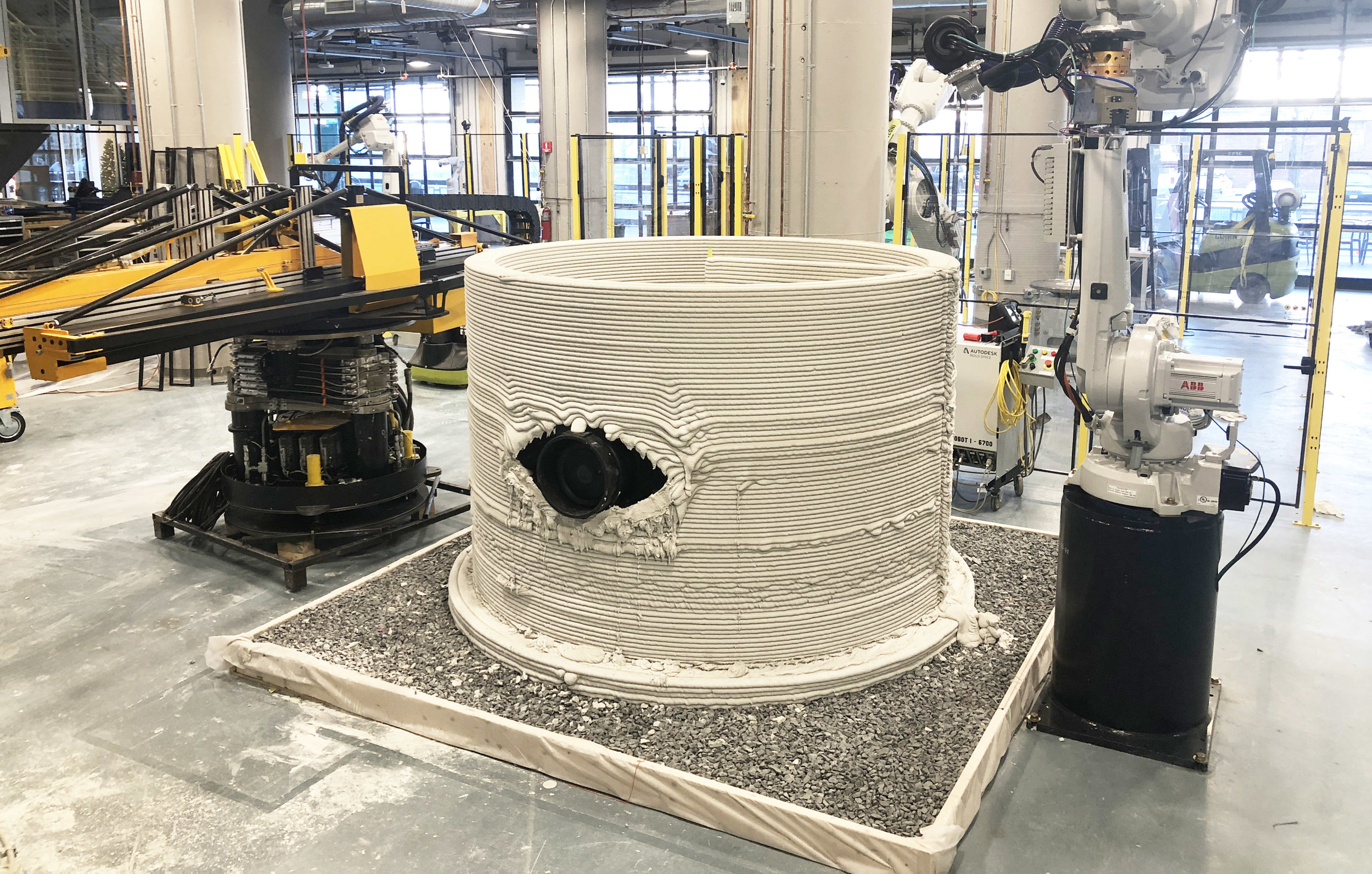The final printed structure before  the Hydrostatic test.