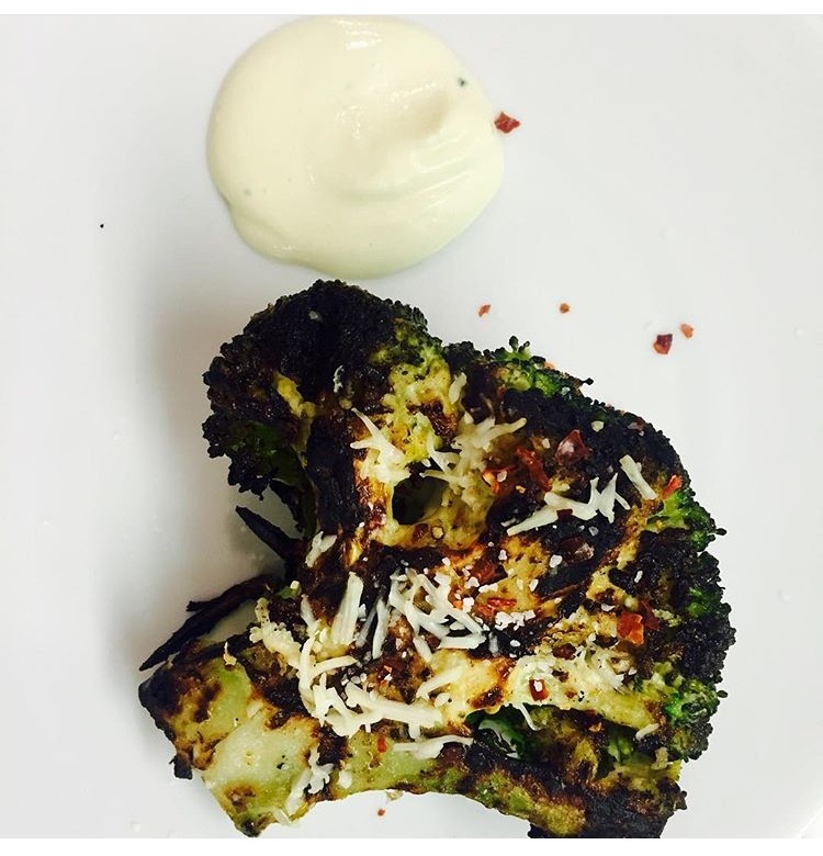 Grilled Broccoli w/ Parmesan