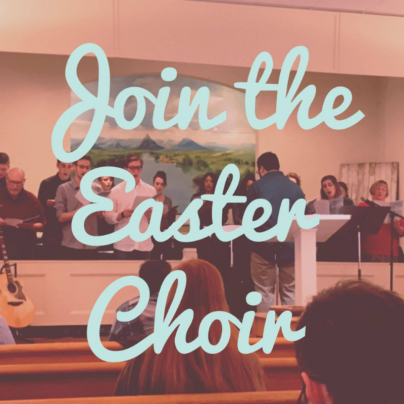 Sing with us! - Let us know you want to join the Easter Choir by filling out the form at https://bit.ly/2UdKrZB.