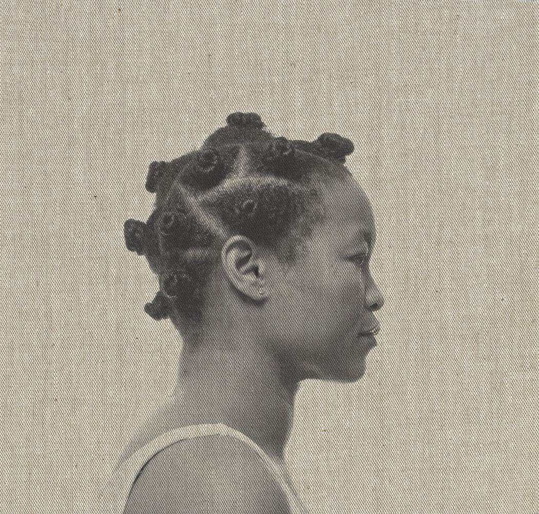 Hairpiece, Self-portrait, china bumps 2