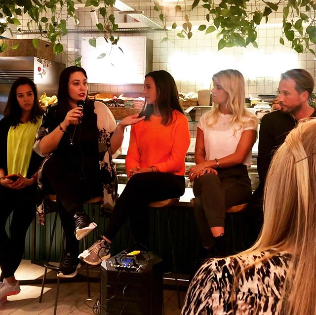 Was honoured to be invited onto tonight's panel hosted by @sweatybetty @dose in the green and beautiful @farmgirlcafe discussing all things endorphin related: cortisol   parasympathetic activity   melatonin with @sophiemadtolive @mattbevan_ of @bodyism and @hettie.holmes of @dose THE TAKE AWAY: be reflective in your exercise regime, low intensity is just as important as high intensity! #slowisthenewfast #exercise #sleep #retreat