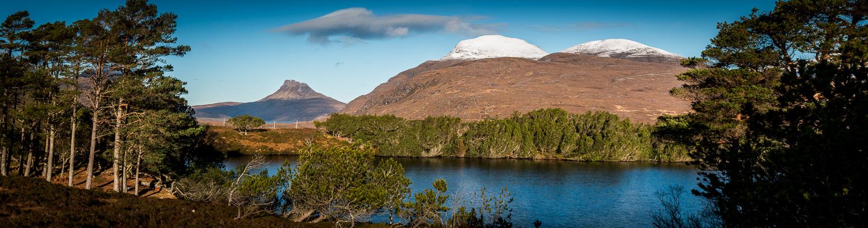 Loch Cùl Dromannan with Stac Pollaidh and Cùl Beag.