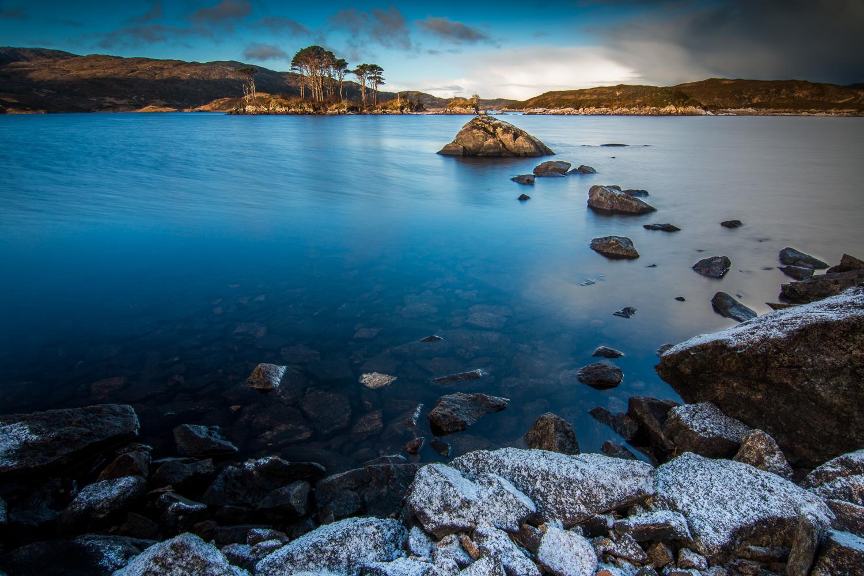 Loch Assynt at sunrise.