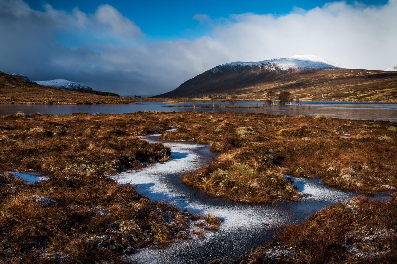 Looking across Loch Droma.