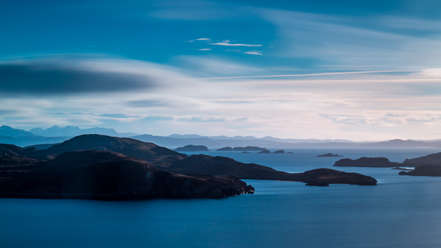 The Summer Isles and hills of Wester Ross.