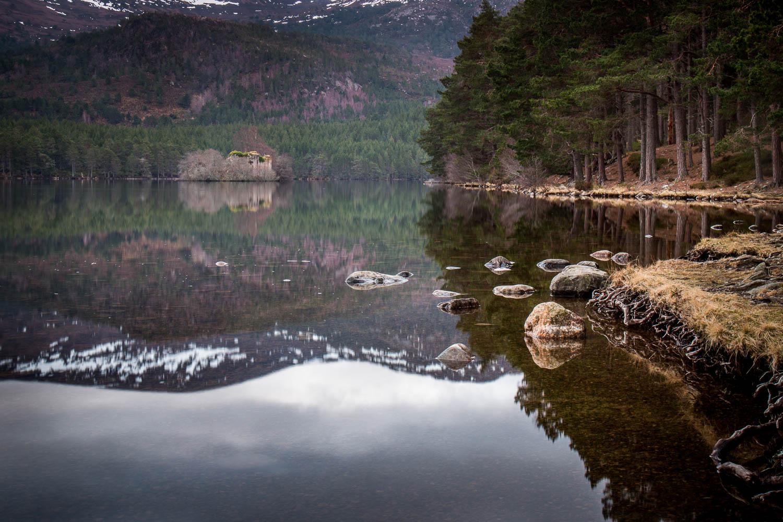 Reflections in Loch an Eilein, Rothiemurchus Estate