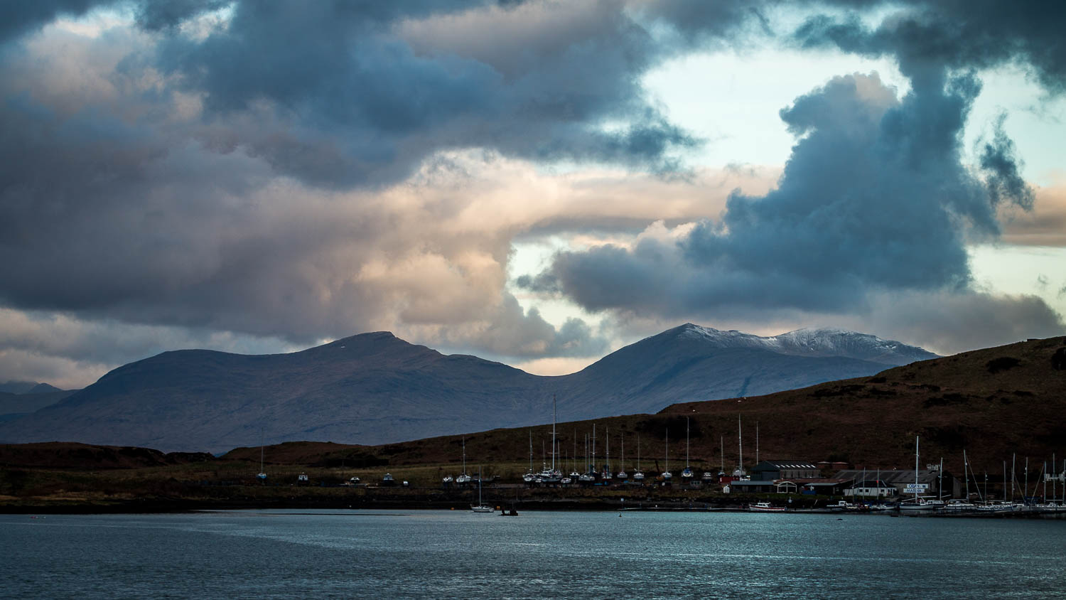Ben More on Mull with Kerrera in the foreground.